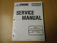 Officina MANUALE SERVICE MANUAL OUTBOARD MERCURY MARINER 30/40 HP PS