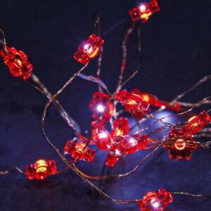 5m Solar Power LED Flexible Flower Firefly Fairy String Lights | Outdoor Garden