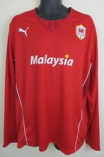 Cardiff City 2013-14 Football Shirt Soccer Jersey Long Sleeve Trikot Maglia XXL