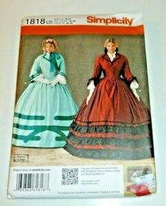 Civil War 18th Century Historical Victorian Costume Sewing Pattern LARP 16-24
