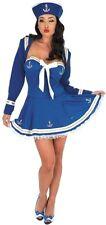 Sexy Navy Sailor Female Fancy Dress Costume UK 10-12