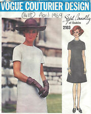 1969 Vintage VOGUE Sewing Pattern B38 DRESS (1418) By SYBIL CONNOLLY of DUBLIN
