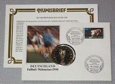 Numisbrief BRD Deutschland Fussball-Weltmeister WM 1990