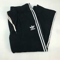 Adidas Sweatpants Mens 2XL XXL Black White Drawstring Tie Side Striped Insulated
