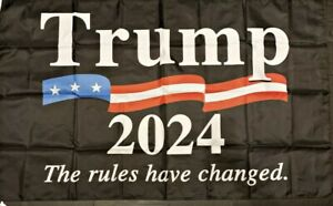 Trump 2024 Flag 3x5 The Rules Have Changed Banner Donald Trump President