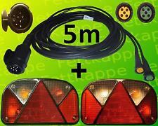 Aspöck Multipoint 2 Leuchten Set - 13polig 5m Kabelbaum - Anhängerbeleuchtung