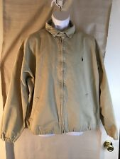 Men's Polo Ralph Lauren WINDBREAKER Chino Jacket Tan XL