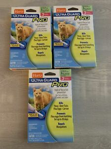 Hartz Ultra Guard Pro Flea & Tick Prevention for Cats 3 Boxes 5lbs And Over Lot
