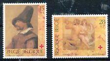 TIMBRE STAMP ZEGEL BELGIQUE CROIX ROUGE ROODE KRUIS RED CROSS 2489-2490  XX