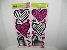 20 Main Street Creations Wall Decals Stickers~Animal Print Hearts Zebra Cheetah