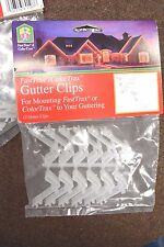 EZ-UP FASTTRAX Outdoor GUTTER CLIPS for Christmas Light Set NEW LOT of 48 Clips