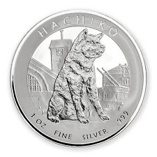 2016 Niue 1 oz Silver Hachiko from Japan Akita Dog - SKU #96672
