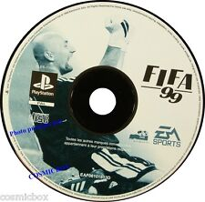 PlayStation 1 FIFA 99 jeu video foot football 1999 pal SONY psx ps1 ps2 cd testé