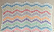 Hand Crocheted Cot Blanket / Throw