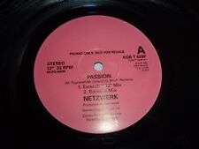 "NETZWERK - Passion - 1995 UK 4-track 12"" Vinyl Single - DJ Promo"