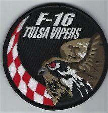 USAF 125th FIGHTER SQ PATCH -  F-16 SWIRL 'TULSA VIPER'                    COLOR