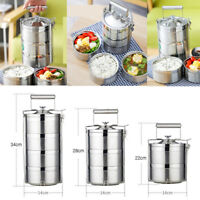 Stainless Steel Insulated Bento Lunch Box Vacuum Seal Tiffin Food Container