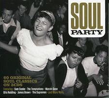 SOUL PARTY - 3 CD BOX SET - SAM COOKE, THE DRIFTERS, ETTA JAMES & MORE