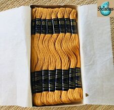 Vintage Box of Peri-Lusta FILO cotton Embroidery Thread Gold (409) - 24 skeins