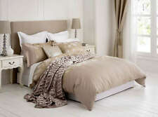 New Amelie Gold Luxury Jacquard QUEEN Size Quilt Doona Cover Set