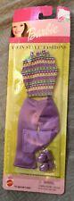 Vintage Barbie Outfit Platform Shoes Top Pants 2001 Sealed NEW 1970s Vibe Purple