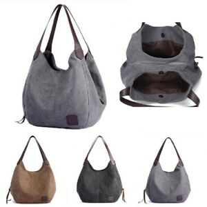 Large Women Canvas Handbag Shoulder Bags Tote Purse Travel Messenger Hobo Bag