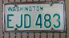 VINTAGE 68-81 BASE PLATE EJD 483 WASHINGTON LICENSE PLATE ORIGINAL