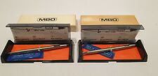 ND 2x MBO Stift mit Quarzuhr 80er OVP Kugelschreiber Kuli Box Vintage Digitaluhr