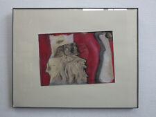 ORIGINAL Edith Cortelli Bild *signiert gerahmt Mischtechnik abtract painting '91