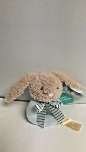 Way To Celebrate Bunny Rabbit Infant Baby Blue Soft Plush Hand Held Rattle
