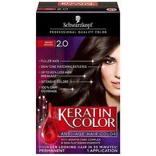 Schwarzkopf Keratin Color Anti-Age Hair Color, Ebony Brown [2.0] 1 ea