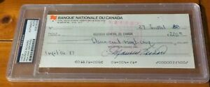 Maurice Rocket Richard Autographed Check PSA/DNA Certified Authentic