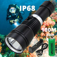 Waterproof 10000LM XML T6 LED Scuba Diving Light Lamp Flashlight Reflector Torch
