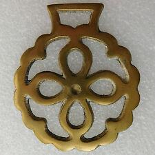 Flower shape Horse brass Vintage traditional metal ware ornament Floral pattern