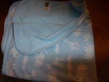 """carters baby Blanket blue white soft 28x30"""" animals"""
