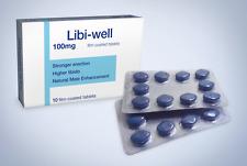 10 x 100 Natural Blue Sex Sexual Male Erection Enhancement Long Lasting Tablets