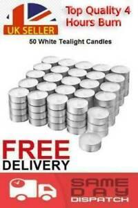 Tea Lights 4 Hour Long Burn Night Light Candles Unscented Tealights 50 /100 /400