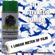 Hydrographic Film Combo Blue Sharks Fish Ocean Dip Ape Activator Water Transfer