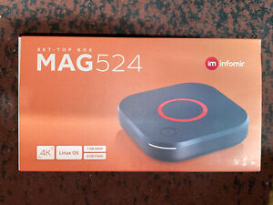 NEW Infomir MAG524 4K Box With 300Mbps WiFi Adapter and than 424w3/324w2
