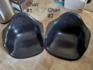 Vintage MCM Herman Miller Fiberglass Black Arm chair shell (2)