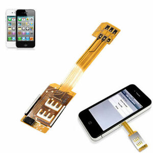 Dual SIM Card Single Standby Adapter Converter For iPhone 6  5S 5C 5 bo