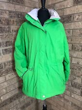 Endurance Bright Green Women's Winter Jacket Size L Water Resistant