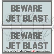 "BEWARE JET BLAST LowVis Aircraft RAF 4""  Stickers x2"