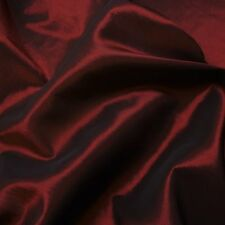 "Red Black Two Tone Taffeta Fabric Weddings 60"" P/Metre"