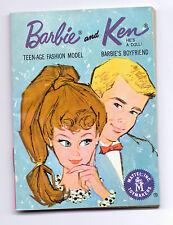 Vintage Blue Barbie Ken Fashion Booklet Book Mini Clothes Catalogue