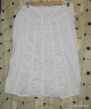 XCVI RUCHED SHORT PARACHUTE WHITE COTTON AND SPANDEX SKIRT DRAWSTRING SIZE SMALL