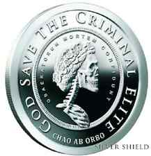 2018 5 oz  Grateful Death PRoof  Slave Queen Silver Shield SSG SBSS 777