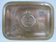 Antique Bronze 1914 Firestone National Fire Chiefs Convention Tray New Orleans