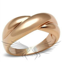 Women's IP Rose Gold Plated Ion Plating Fashion Ring No Stone 5 6 7 8 GL208