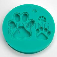 Dog Paws Silicone Mould Many Breeds Cute Cupcake Topper Mold Decoration